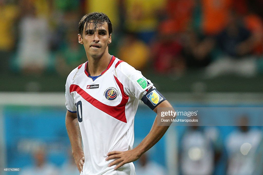 <a gi-track='captionPersonalityLinkClicked' href=/galleries/search?phrase=Bryan+Ruiz&family=editorial&specificpeople=714489 ng-click='$event.stopPropagation()'>Bryan Ruiz</a> of Costa Rica looks dejected after being defeated by the Netherlands in a penalty shootout during the 2014 FIFA World Cup Brazil Quarter Final match between the Netherlands and Costa Rica at Arena Fonte Nova on July 5, 2014 in Salvador, Brazil.