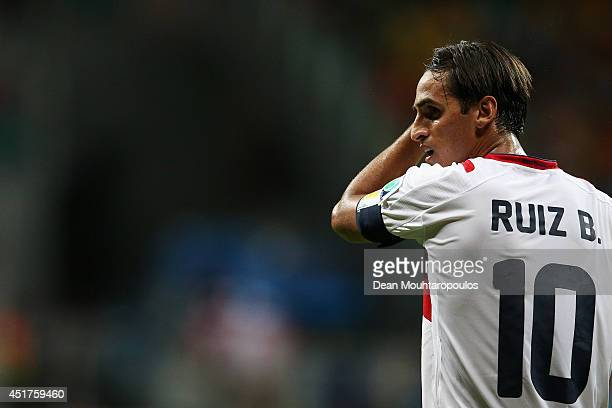 Bryan Ruiz of Costa Rica looks on during the 2014 FIFA World Cup Brazil Quarter Final match between the Netherlands and Costa Rica at Arena Fonte...