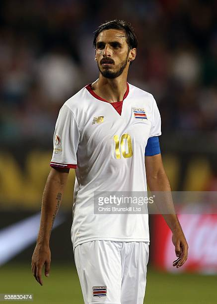 Bryan Ruiz of Costa Rica looks on during the Copa America Centenario Group A match between the United States and Costa Rica at Soldier Field on June...