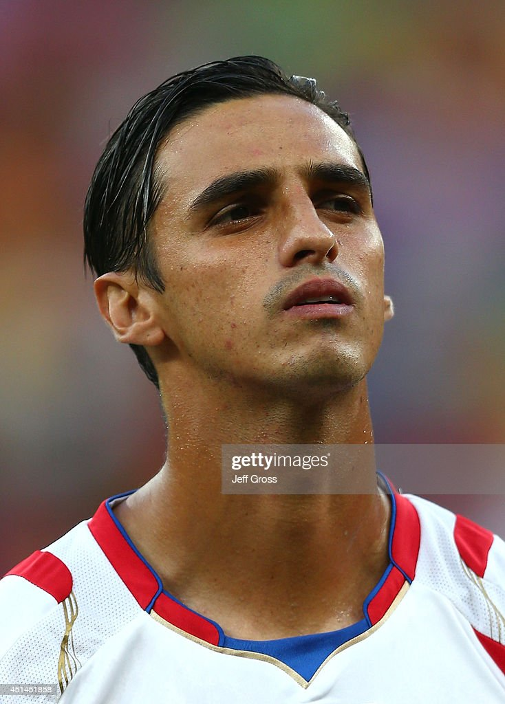 Bryan Ruiz of Costa Rica looks on prior to the 2014 FIFA World Cup Brazil Round of 16 match between Costa Rica and Greece at Arena Pernambuco on June...