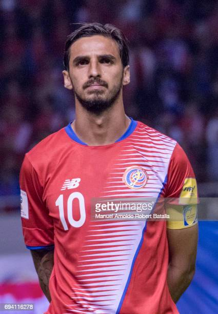 Bryan Ruiz of Costa Rica looks on prior to the match between Costa Rica and Panama as part of the FIFA 2018 World Cup Qualifiers at Estadio Nacional...