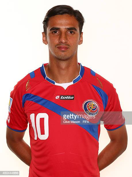 Bryan Ruiz of Costa Rica poses during the official FIFA World Cup 2014 portrait session on June 10 2014 in Sao Paulo Brazil