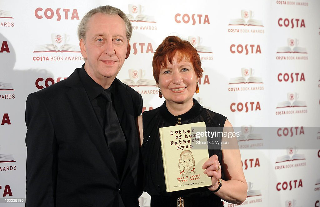 Bryan Talbot and Mary Talbot attend the Costa Book of the Year awards at Quaglino's on January 29, 2013 in London, England.
