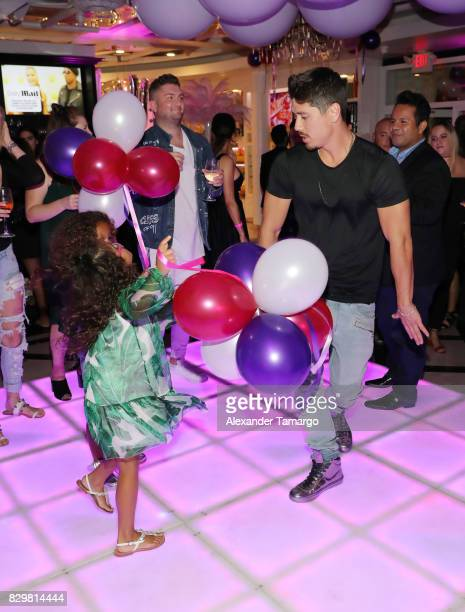 Bryan Tanaka and Mariah Carey's children Moroccan and Monroe attend the Mariah Carey concert after party at Sugar Factory American Brasserie on Ocean...