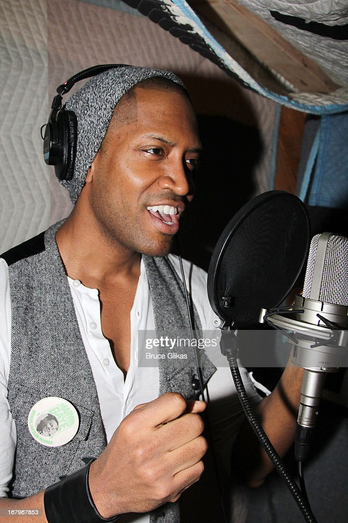 Bryan Terrell Clark attends Broadway's 'Motown:The Musical' Original Broadway Cast Recording Session at MSR Studios in Times Square on May 2, 2013 in New York City.