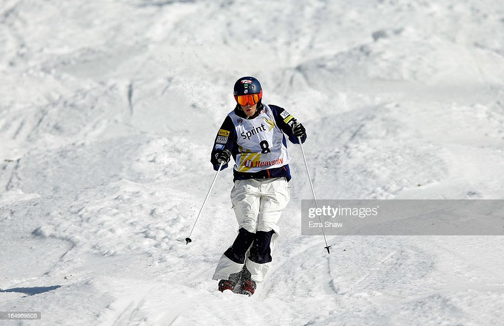 Bryan Zemba competes in the Men's Moguls final at the U.S. Freestyle Moguls National Championship at Heavenly Resort on March 29, 2013 in South Lake Tahoe, California.