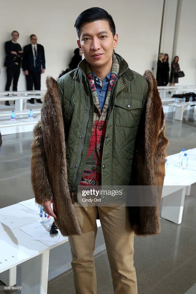Bryanboy attends the Jason Wu Fall 2016 fashion show during New York Fashion Week at Spring Studios on February 12, 2016 in New York City.