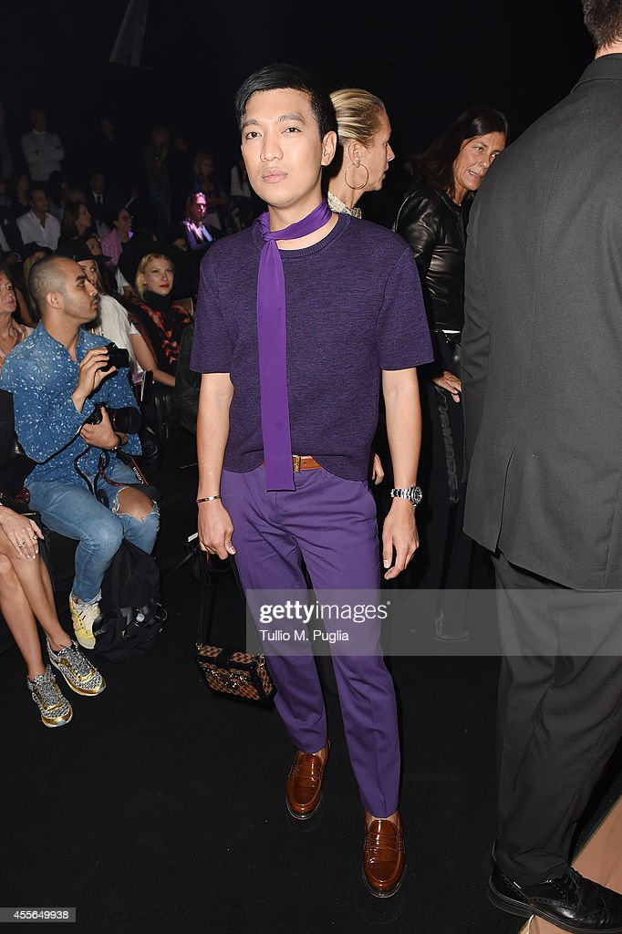 Bryanboy attends the Just Cavalli show during the Milan Fashion Week Womenswear Spring/Summer 2015 on September 18 2014 in Milan Italy