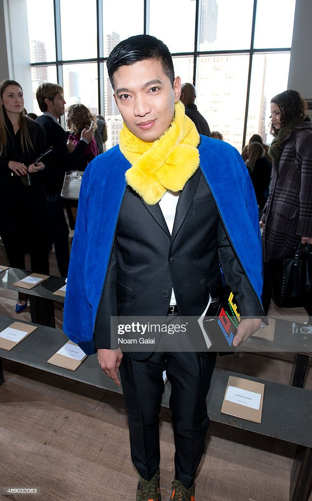 Bryanboy attends the Michael Kors Show during Mercedes-Benz Fashion Week Fall 2014 at Spring Studios on February 12, 2014 in New York City.