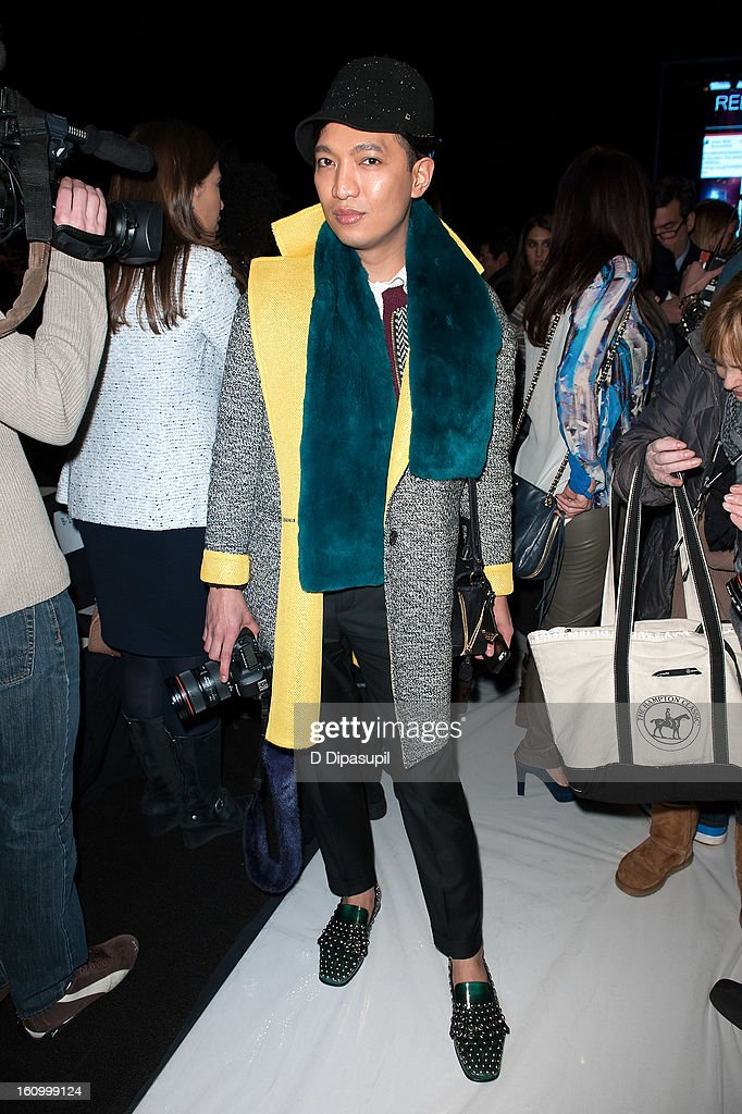 Bryanboy attends the Rebecca Minkoff Fall 2013 Mercedes-Benz Fashion Show at The Theater at Lincoln Center on February 8, 2013 in New York City.
