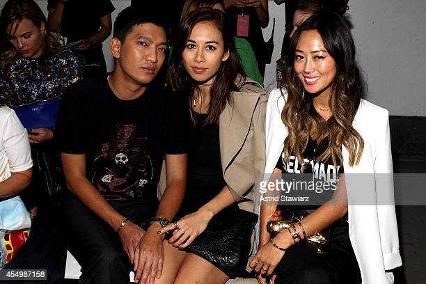 Bryanboy Rumi Neely ande Aimee Song attend the 31 Philip Lim Spring Summer 2015 fashion show with TRESemme at Skylight Clarkson SQ on September 8...