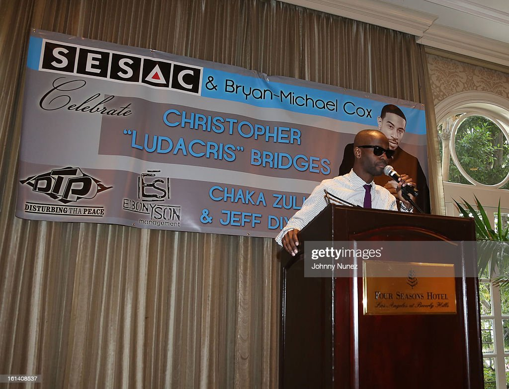 Bryan-Michael Cox attends The 9th Annual Bryan-Michael Cox/SESAC Brunch Honoring Ludacris at Four Seasons Hotel Los Angeles at Beverly Hills on February 10, 2013 in Beverly Hills, California.