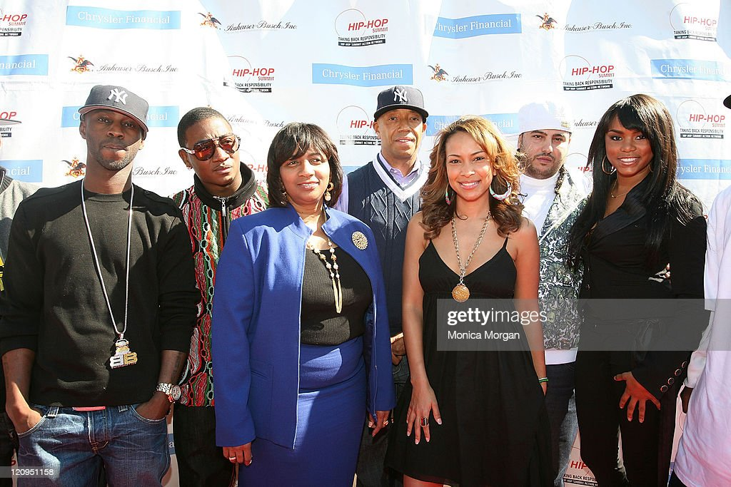 BryanMichael Cox Yung Joc Monique Tate ManagerDiversity Marketing for Chrysler Financial HipHop Summit Action Network Chairman Russell Simmons HipHop...
