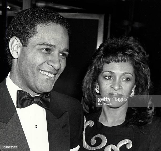Bryant Gumbel and June Baranco at the 35th Anniversary Party for Playboy Magazine Windows of the World New York City