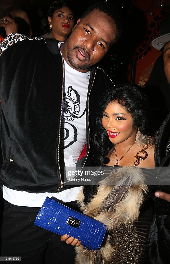 Bryant Mckinnie and Lil' Kim attend the Baltimore Ravens Superbowl Victory Party at Greenhouse on February 12, 2013 in New York City.