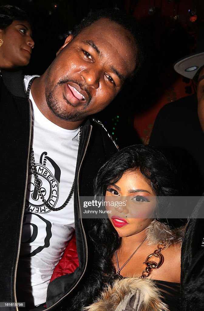 Bryant Mckinnie and <a gi-track='captionPersonalityLinkClicked' href=/galleries/search?phrase=Lil%27+Kim&family=editorial&specificpeople=202942 ng-click='$event.stopPropagation()'>Lil' Kim</a> attend the Baltimore Ravens Superbowl Victory Party at Greenhouse on February 12, 2013 in New York City.