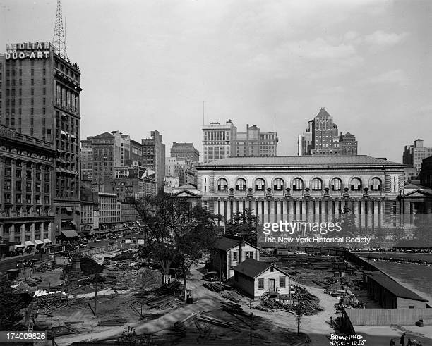 Bryant Park and the new New York Public Library New York New York 1920s