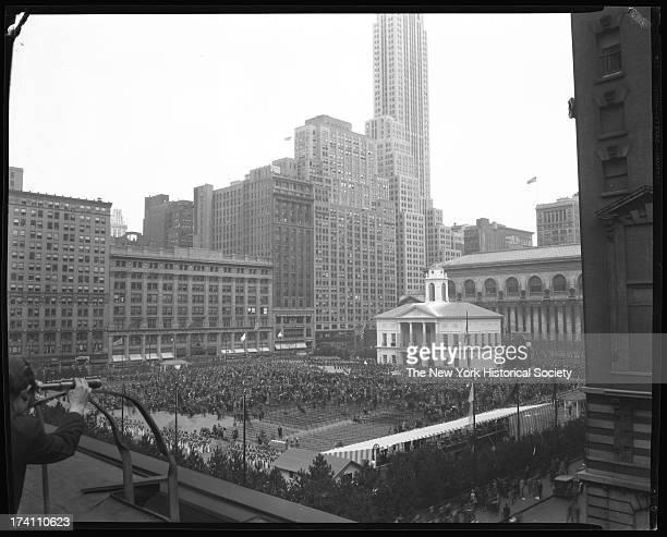 Bryant Park during the Washington bicentennial New York New York 1932
