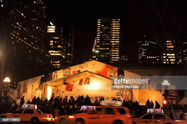 Bryant Park Tents attends ZAC POSEN Fall 2009 Collection at The Tent on February 19 2009 in New York