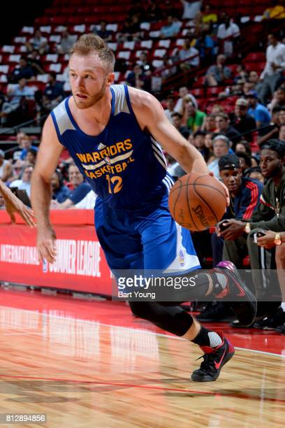 Bryce Alford of the Golden State Warriors handles the ball against the Minnesota Timberwolves on July 11 2017 at the Thomas Mack Center in Las Vegas...