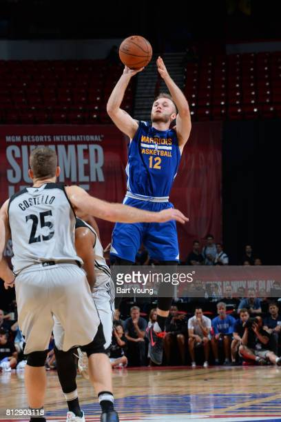 Bryce Alford of the Golden State Warriors shoots the ball against the Minnesota Timberwolves on July 11 2017 at the Thomas Mack Center in Las Vegas...