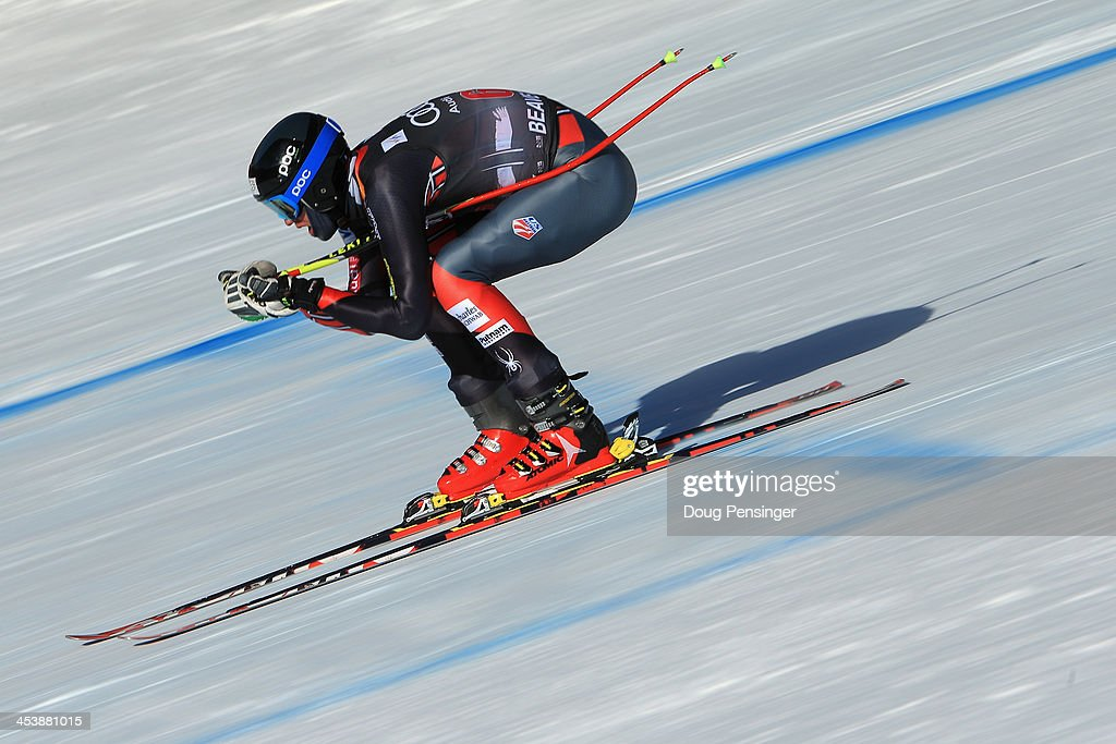 Bryce Bennett of the United States in action during downhill training for the Birds of Prey Audi FIS Ski World Cup on December 5, 2013 in Beaver Creek, Colorado.