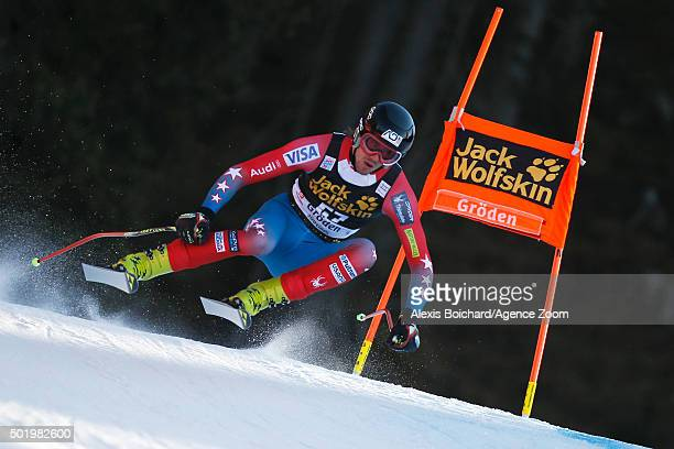 Bryce Bennett of the USA competes during the Audi FIS Alpine Ski World Cup Men's Downhill on December 19 2015 in Val Gardena Italy