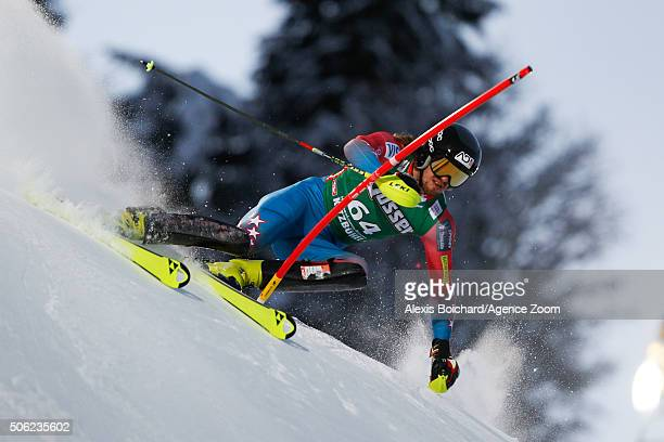 Bryce Bennett of the USA competes during the Audi FIS Alpine Ski World Cup Men's Super Combined on January 22 2016 in Kitzbuehel Austria