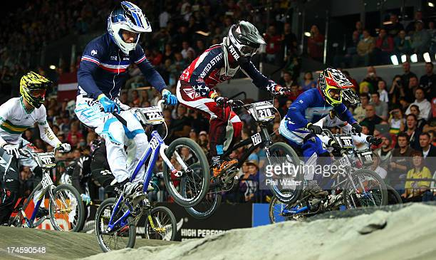 Bryce Betts of the USA in action during day five of the UCI BMX World Championships at Vector Arena on July 28 2013 in Auckland New Zealand