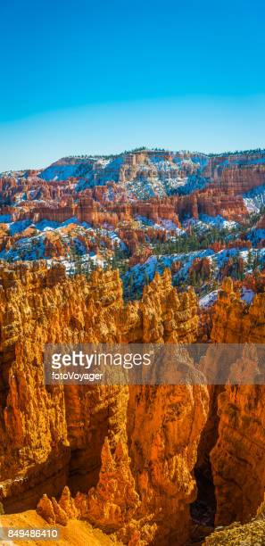Bryce Canyon National Park Utah banner hoodoo spires snowy forest