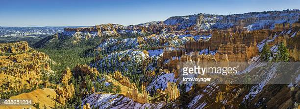 Bryce Canyon National Park Utah snowy Ponderosa forests golden hoodoos