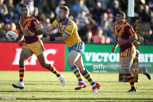 Bryce Cartwright of City passes during the 2017 City versus Country Origin match at Glen Willow Sports Ground on May 7 2017 in Mudgee Australia