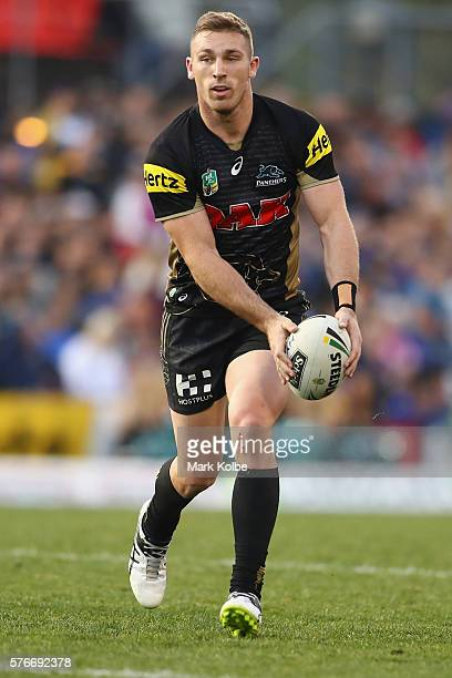 Bryce Cartwright of the Panthers runs the ball during the round 19 NRL match between the Penrith Panthers and the Parramatta Eels at Pepper Stadium...