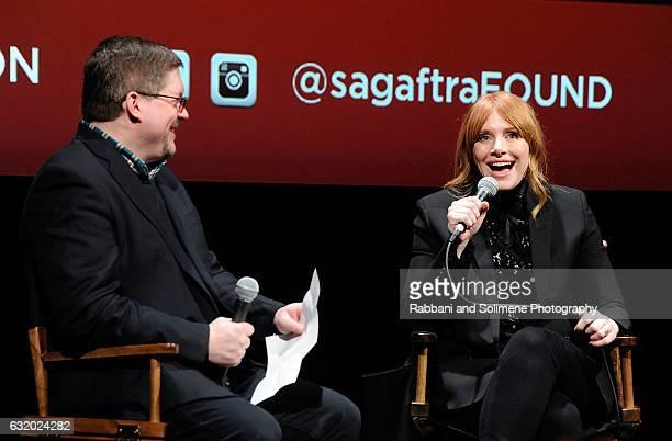 Bryce Dallas Howard and Bruce Fretts attend SAGAFTRA Foundation 'Black Mirror' New York Screening And QA at SAGAFTRA Foundation Robin Williams Center...