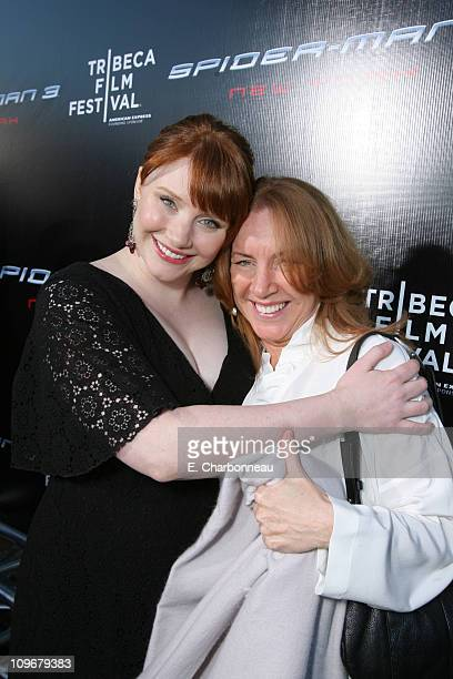 Bryce Dallas Howard and Cheryl Howard during US Premiere of Columbia Pictures' 'SpiderMan 3' at Kaufman Astoria 14 in Queens New York United States