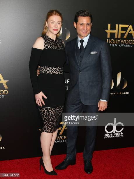 Bryce Dallas Howard and Edgar Ramirez attend the 20th Annual Hollywood Film Awards on November 6 2016 in Los Angeles California