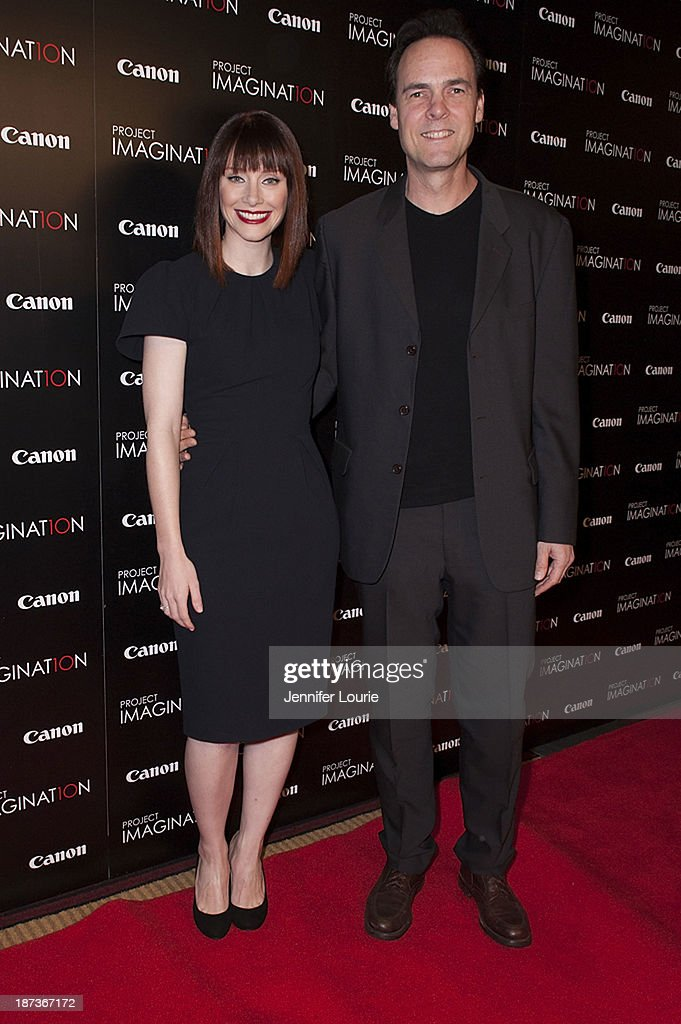 <a gi-track='captionPersonalityLinkClicked' href=/galleries/search?phrase=Bryce+Dallas+Howard&family=editorial&specificpeople=156411 ng-click='$event.stopPropagation()'>Bryce Dallas Howard</a> and Kalman Apple attend the Los Angeles screening for Canon's 'Project Imaginat10n' film festival at Pacific Theatre at The Grove on November 7, 2013 in Los Angeles, California.