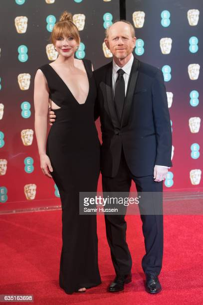 Bryce Dallas Howard and Ron Howard attend the 70th EE British Academy Film Awards at Royal Albert Hall on February 12 2017 in London England
