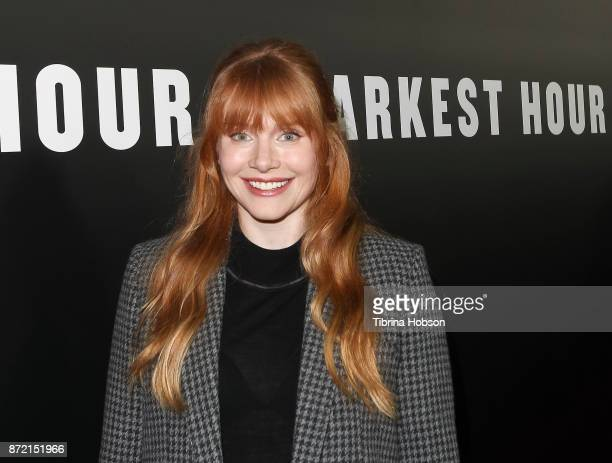 Bryce Dallas Howard attends the premiere of Focus Features 'Darkest Hour' at Samuel Goldwyn Theater on November 8 2017 in Beverly Hills California