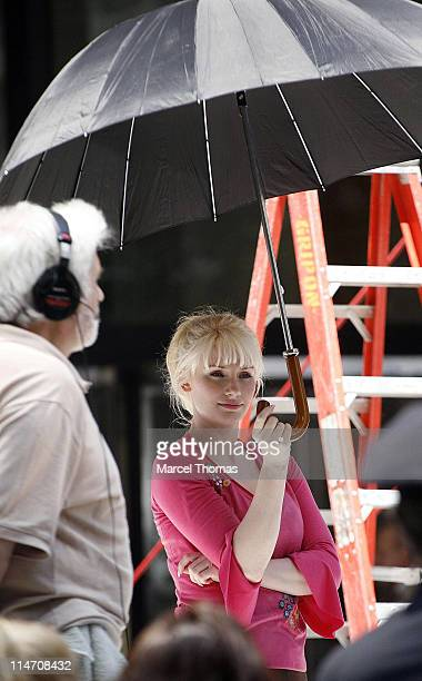 Bryce Dallas Howard during Tobey Maguire Topher Grace James Cromwell and Bryce Dallas Howard on the Set of 'SpiderMan 3' May 28 2006 at 6th Avenue in...