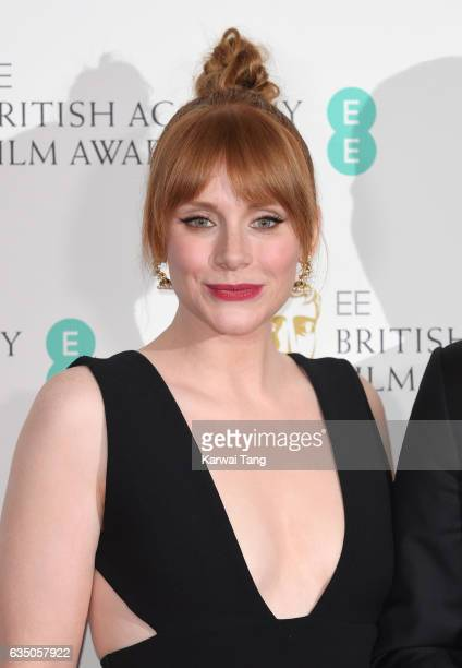Bryce Dallas Howard poses in the winners room at the 70th EE British Academy Film Awards at the Royal Albert Hall on February 12 2017 in London...