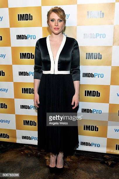Bryce Dallas Howard receives an IMDb STARmeter Award on January 25 2016 in Park City Utah