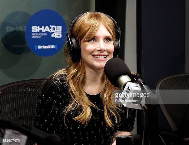 Bryce Dallas Howard visits Sway in the Morning on Shade 45 at SiriusXM Studios on January 17 2017 in New York City