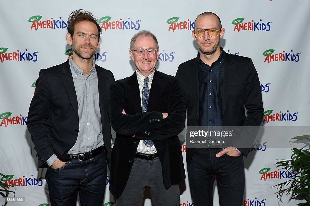 <a gi-track='captionPersonalityLinkClicked' href=/galleries/search?phrase=Bryce+Dessner&family=editorial&specificpeople=4836612 ng-click='$event.stopPropagation()'>Bryce Dessner</a>, John Carlin and <a gi-track='captionPersonalityLinkClicked' href=/galleries/search?phrase=Scott+Devendorf&family=editorial&specificpeople=4502821 ng-click='$event.stopPropagation()'>Scott Devendorf</a> attend the CampAmeriKids 2014 Spring Benefit at Donna Karen's Stephen Weiss Studio on May 7, 2014 in New York City.