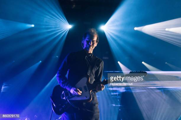 Bryce Dessner of The National performs live on stage at Usher Hall on September 20 2017 in Edinburgh Scotland