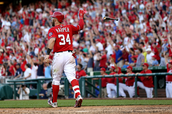 Image result for bryce harper walkoff home run