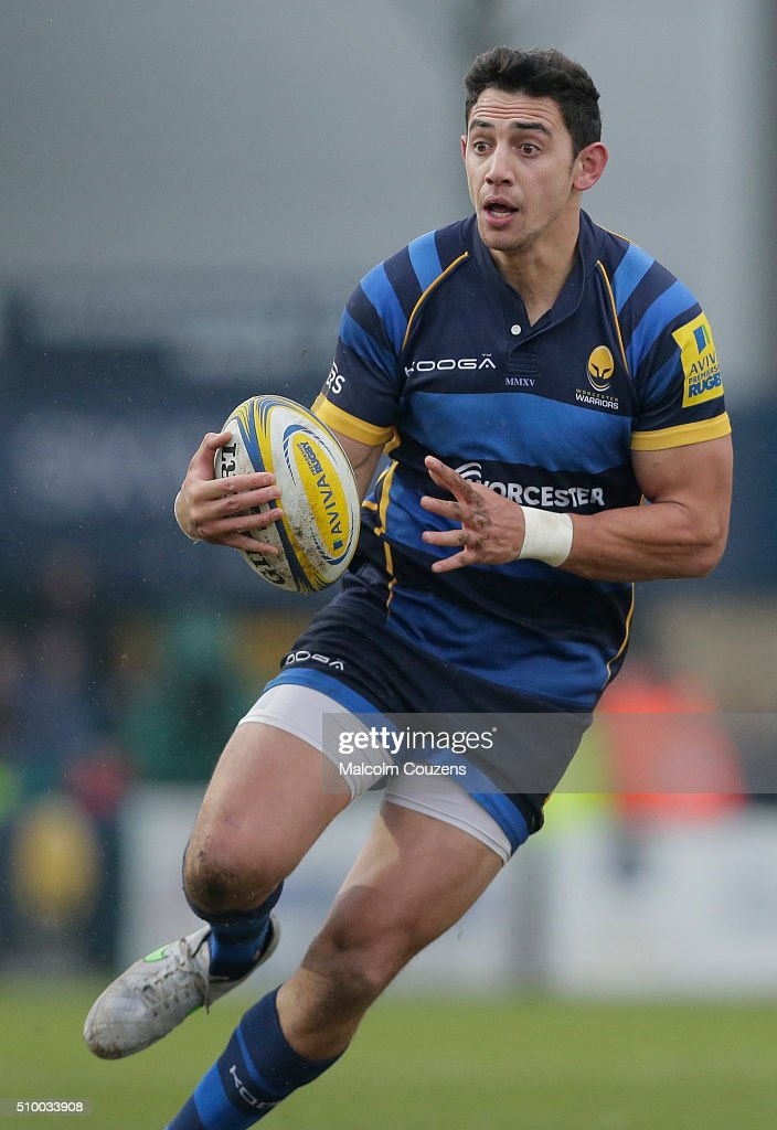 Bryce Heem of Worcester Warriors during the Aviva Premiership match between Worcester Warriors and Bath Rugby at Sixways Stadium on February 13,, in Worcester, England