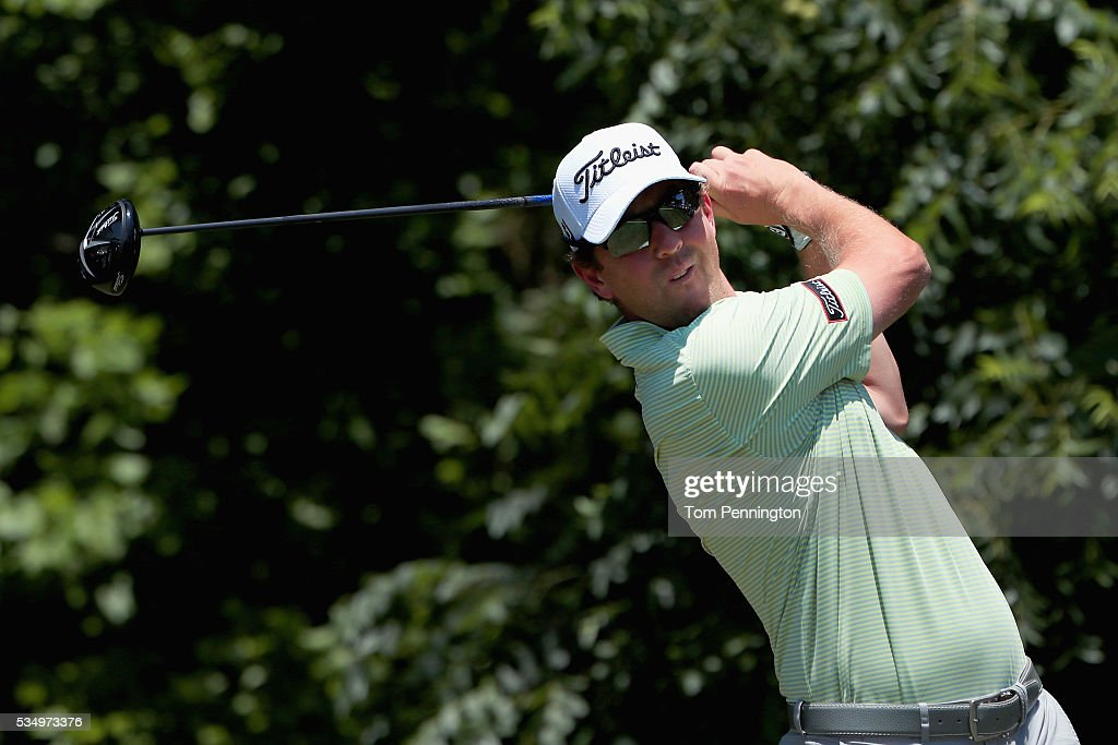 <a gi-track='captionPersonalityLinkClicked' href=/galleries/search?phrase=Bryce+Molder&family=editorial&specificpeople=2552564 ng-click='$event.stopPropagation()'>Bryce Molder</a> plays his shot from the sixth tee during the Third Round of the DEAN & DELUCA Invitational at Colonial Country Club on May 28, 2016 in Fort Worth, Texas.