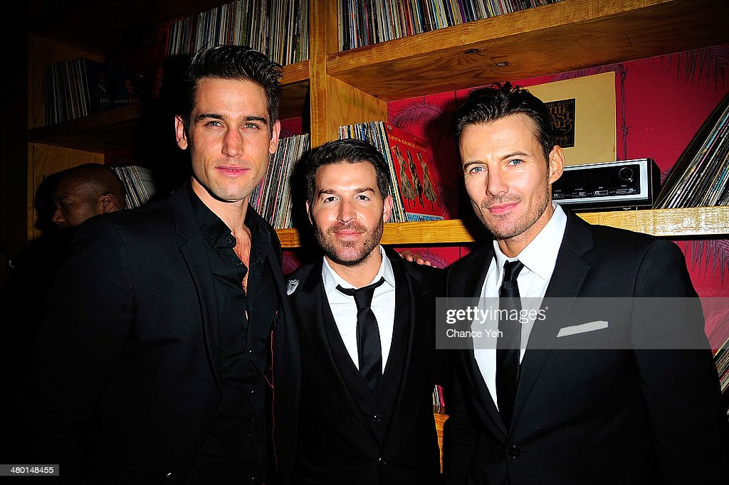 Bryce Thompson, Benjamin Higpen and Alexander Lundqvist attend 2nd Supermodel Saturday at No.8 on March 22, 2014 in New York City.