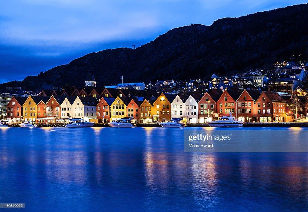 Bryggen at blue hour